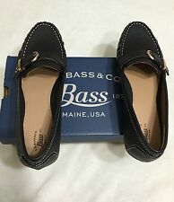 Nwb Bass Ladies Wayfarer Color Black  Loafer Leather Shoes Size 7.5