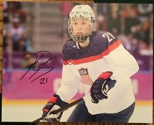 Hilary Knight Signed 16x20 Stretched Canvas Autograph USA Hockey
