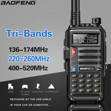 Baofeng UV-S9 Tri-Band UHF/VHF Walkie Talkie FM Two Way Ham Radio 8W + Earpiece
