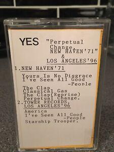 Yes- Perpetual Change Live New Haven '71 & LA 96 Cassette Prog Rock