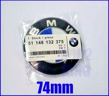 FOR BMW 74mm blue white emblem trunk boot emblem for