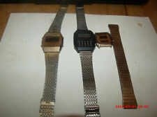 Rare Vtg 1970S Amitron Calculator Watch And Other Vtg Led 1970S Watches.