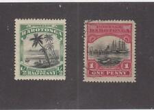 Rarotonga (Mk1017) # 61-62 Vf-Mh/1Used 1/2,1d Island Scenes Cat Value $30