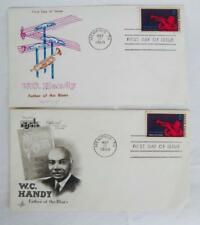 WC Handy 2 First Day Issue Commemorative Stamp & Envelope 1969 Memphis TN Blues