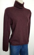 N PEAL 100% PURE CASHMERE JUMPER SWEATER S BURGUNDY RED HIGH NECK 789