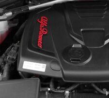 1pz Cover copertura scritta Motore e/o Tappo Olio in ABS per Alfa Romeo Giulia