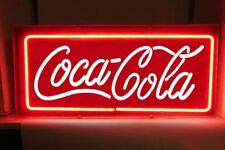 "NEON Light Coca Cola Coke Soda Drink Pepsi Poster Bottle Poster Sign 12""x7"" R014"