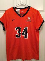 University of Virginia UVA Cavaliers Game Worn Used Womens Lacrosse Jersey #34
