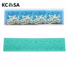 KCASA Flower Lace Cake Mold Silicone Fondant Cake Decoration