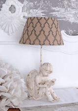 Vintage Lampe Engel Tischleuchte Amor Tischlampe Shabby Chic Nachttischlampe neu