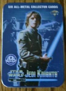 Star Wars 6 Metal Card Set, Jedi Knights, Metallic Impressions