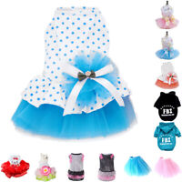 Puppy Pet Dog Dress Skirt Princess Dress Small Dog Clothes Clothing
