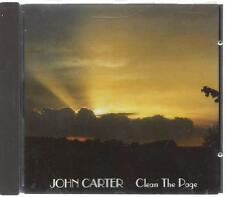 JOHN CARTER, CLEAN THE PAGE; 12 TRACK CD