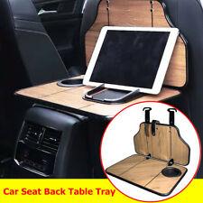 Folding Car SUV Back Seat Table Drink Cup Holder Food Tray Desk Wood Metal Hinge