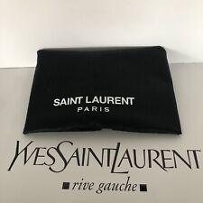 Saint Laurent Black Fabric Garment  Bag with Logo