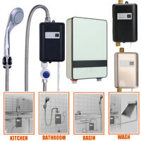 4 Types Electric 220V Tankless Instant Water Heater Shower Hot System Bathroom