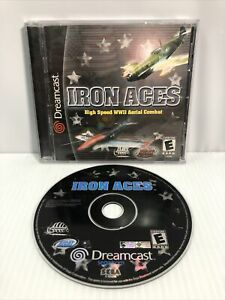 Iron Aces (Sega Dreamcast, 2000) Complete CIB - Tested Working