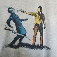 Game Of Thrones Walking Dead Graphic T Shirt Unisex The Night King & Rick XL
