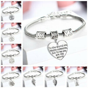 Best Friend/Sister/Birthday/MUM Bracelet Tibetan Silver Charm Personalised Gifts