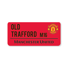 MANCHESTER UNITED OLD TRAFFORD RED STREET SIGN STEEL STREET SIGN