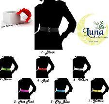 HOT - PREMIUM Fashion Cinch Buckle Women 2 Inch Wide Stretch Elastic Belt W/BOX