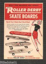"""""""ROLLER DERBY SKATE BOARDS""""  STICKER DECAL Surfboard Longboard Surfing Malibu"""