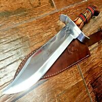 """15"""" Full Tang TACTICAL Hunting Rambo Fixed Blade Camping Bowie Knife w Sheath"""