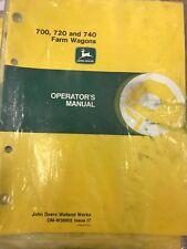 John Deere Operators Manual 700, 720, & 740 Farm Wagon #Omw38905 Used