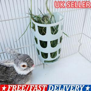 Feeder Rabbit Hay Rack Guinea Pig Hamster Small Animals Food Bowl Manger Bin New
