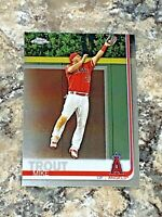 2019 Topps Chrome Mike Trout #200 Los Angeles Angels MLB Baseball Card