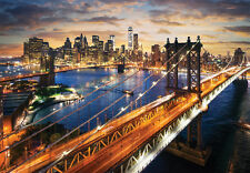 2000Piece Mini Jigsaw Puzzle Beautiful Sunset Manhattan Hobby Home Decoration