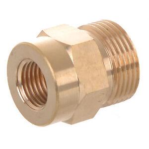 "Brass 1/4""Female x M22 Male Adaptor for Pressure Washer KARCHER Lance Nozzle"