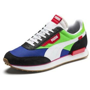 Puma Rider Play On Green Blue Neon UK 9.5 US 10.5 Suede OG Style Retro Clyde