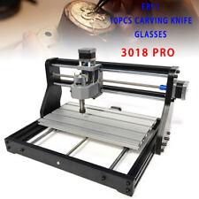 2 In 1 Mini Cnc 3018pro Engraver Kit Grbl Diy Wood Engraving Carving Router Pcb