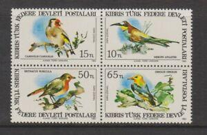 Turkish Cyprus - 1983, Birds of Cyprus set - MNH - SG 140/3