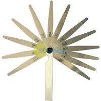 Metric 13 Blade Feeler Gauge 0.05 to 1.0mm Spark Plug Measure Gap Tool Set