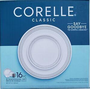 16 Corelle Classic Dinnerware Piece Set Chip & Crack Resistant Plates Bowls Mugs
