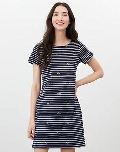 Joules  Riviera Short Sleeve Jersey Dress - Bees Stripe