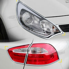Chrome Head lamp Cover Rear Tail Light Molding for KIA 2012-2016 Rio Hatchback