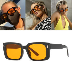 New Square 70s Sunglasses for Women Retro Rectangle Small Frame Sunglasses UV400