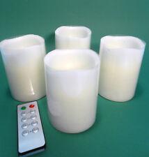 4er Set LED Adventskerzen weiß mit Fernbedienung Kerzenset Kerze Weihnachten neu