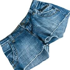 American Rag Cie Blue Denim Cut-Off Distressed Shorts Sz 3 Waist 25 Inseam 2