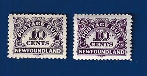 Newfoundland stamps #J6, J7 Postage Due VF/mnh