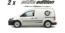 White Edition C a d d y 2 x Large stickers decals graphic  T5 T6  Van camper