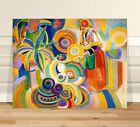 "Robert Delaunay Tall Portugese Woman ~ FINE ART CANVAS PRINT 36x24"""