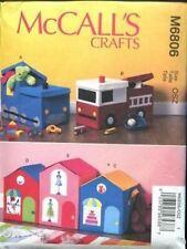 McCalls Sewing Pattern 6806 Toy Storage / Box Storage Train Truck House Shop