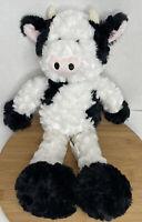 "Pier 1 One Imports Gertrude the Cow Plush Black White Stuffed Animal 19"""