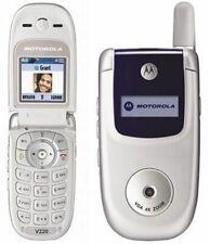 CHEAP SILVER MOTOROLA V220 FLIP MOBILE PHONE-UNLOCKED WITH NEW CHARGAR &WARRANTY