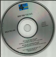 BOO YAA TRIBE Walk the Line w/ RADIO EDIT PROMO DJ CD Single t.r.i.b.e. 1990