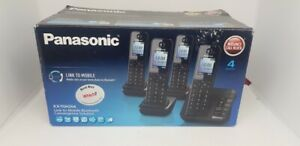 Panasonic KX-TGH264EB Cordless 4 Quad Dect Phone Nuisance Block + Manual
